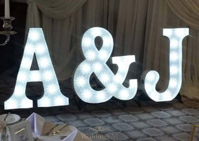 Initials Light Up Letters (Marquee Style)