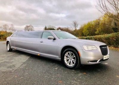 Champagne Silver Chrysler Limousine