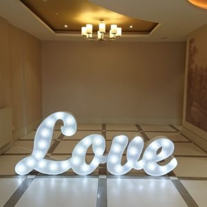 3ft Scripted Love Letters