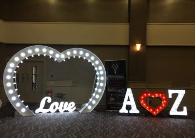 Letters In Lights NI - Heart Arch