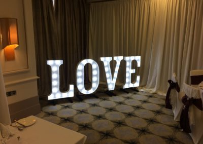 Marquee Style LOVE letters