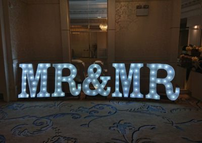 Letters In Lights NI - Mr & Mr Letters (Marquee Style)