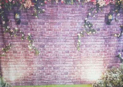 Purple Bricks Selfie Mirror Background