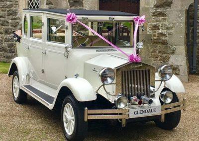 1930s Style White Imperial Landaulette