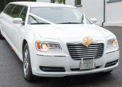 White Chrysler 300 limousine