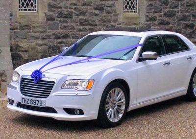 White Chrysler 300C Saloon